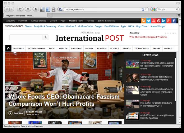 InternationalPost WORDPRESS THEME BY MAGAZINE3